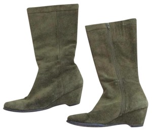 Nordstrom Leather Suede Boho Military Classic Green Boots