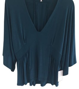 Free People Top Teal