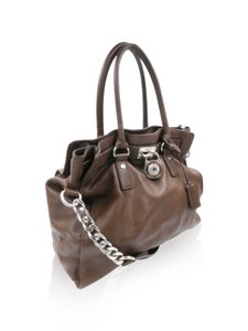 Michael Kors White Hamilton Tote in Brown