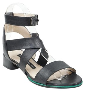 French Connection Corazon 35.5 Ankle Strap Leather Black Sandals