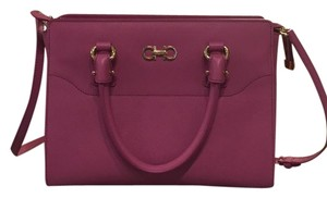 Salvatore Ferragamo Satchel in Dark Pink