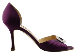Manolo Blahnik Purple Sandals