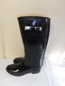 Ted Baker Tall Bow Glossy black Boots