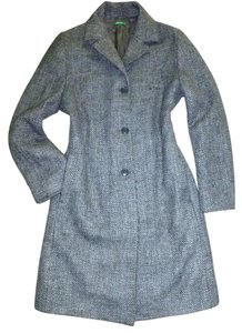 United Colors of Benetton Made In Italy Tweed Wool Trench Trench Coat