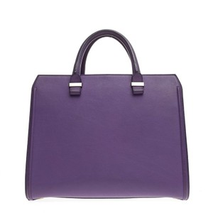 Victoria Beckham Leather Tote in Violet