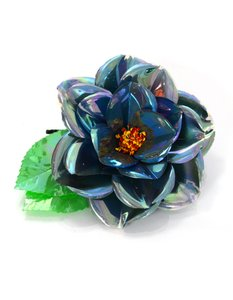 Chanel Chanel Blue Iridescent Flower Brooch