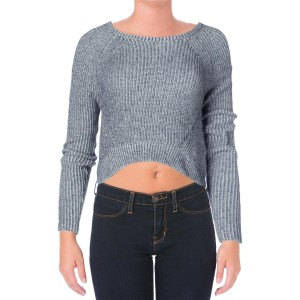 Aqua Crop Crewneck Sweater