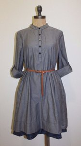 Anthropologie short dress gray Shirt Isabella Sindair Bespoke on Tradesy
