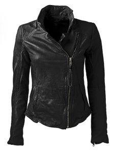 Muubaa Cognac Leather Motorcycle Jacket