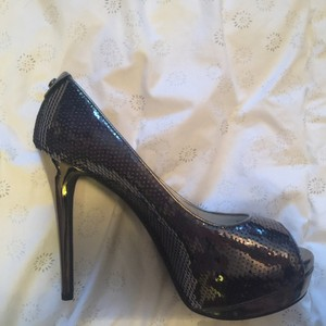 Michael Kors Sequin Gun Metal Gray Platforms
