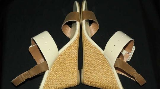 Coconuts Beige & Brown Wedges