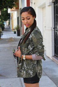 Aéropostale Camo Military Camouflage Military Jacket