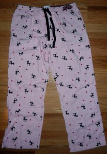 Liz Claiborne Stripes Dogs Poodle Pj's Straight Pants Pink, white, black, red
