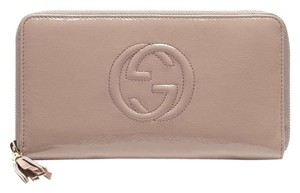Gucci Gucci Leather Zip Around Clutch Wallet Travel Large 291102 6812