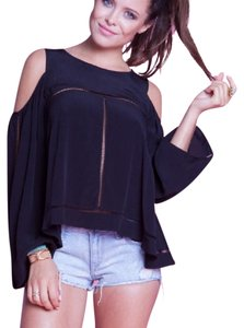 Lovers + Friends Keyholes Flared Top red/burgundy
