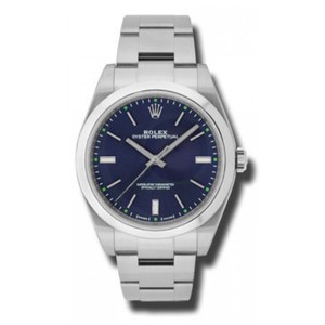 Rolex Rolex OYSTER PERPETUAL Blue Stick Dial 39MM 114300 BLSO