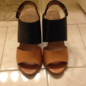 Joie Black and tan Wedges