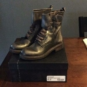 Steven by Steve Madden Silver/brown leather Boots