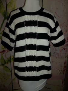 Liz Sport 100%cotton Striped Sweater