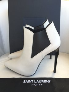 Saint Laurent Ivory Boots
