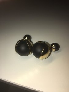 Dior Rare Dior Tribal Earring Black and Gold