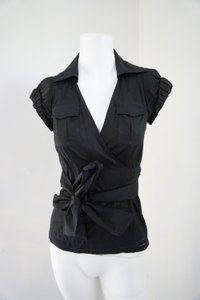 Diane von Furstenberg Dfv Wrap Ready To Wear Holiday Top Black