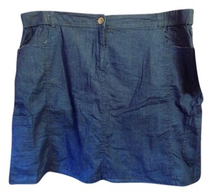 Briggs Plus-size New With Tags Comfort Waistband Pockets Skort Chambray