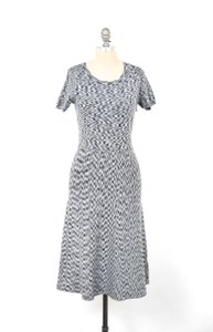 Ann Taylor short dress Gray Space-dyed Intarsia Knit Nwt on Tradesy
