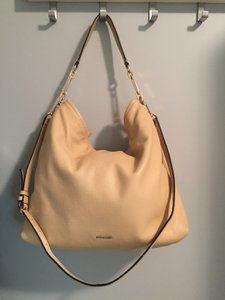 Coach Pebble Leather Supersoft Slouchy Tote in Nude