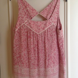 Maeve Top Pink & white