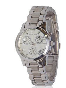 Michael Kors BRAND NEW WOMENS MICHAEL KORS (MK5428) MINI RUNWAY SILVER CHRONO WATCH