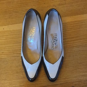 Salvatore Ferragamo Black and White Pumps