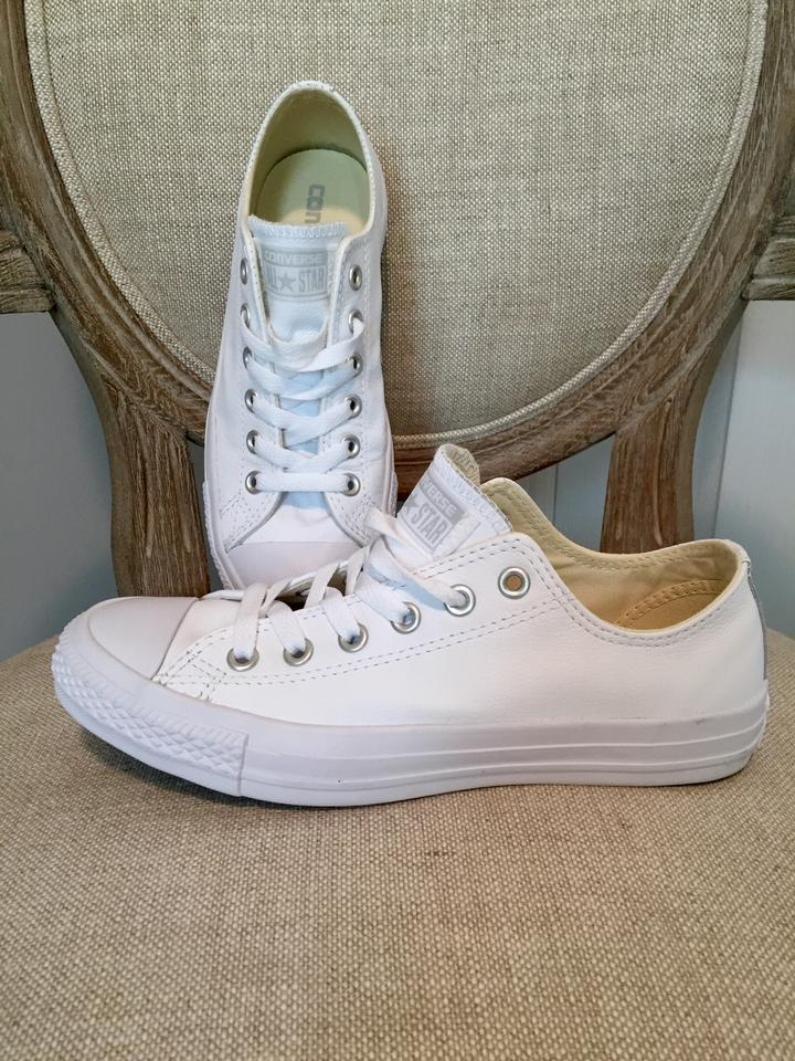 Converse Leather White Athletic Shoes on Sale, 39% Off ...