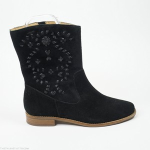 Jack Rogers Kaitlin 7 Western Suede Boot Black Boots