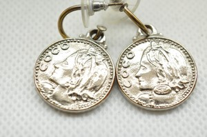 Chanel Silver CC Coco Medallion Earrings