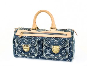 Louis Vuitton Neo Speedy Speedy Monogram Speedy Satchel in Blue