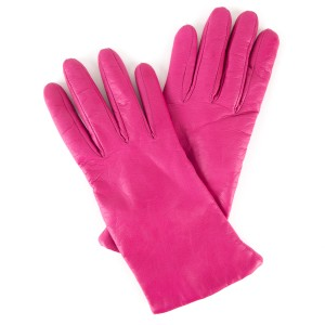 Neiman Marcus Neiman Marcus Hot Pink Leather Gloves
