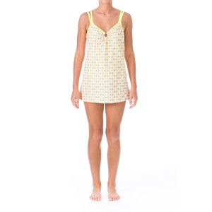 mainstream Mainstream 2624 Womens Multi Argyle Textured O-Ring Swimdress 16