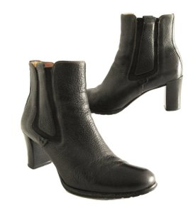 Cole Haan Pebbled Leather Ankle Boot Black Boots