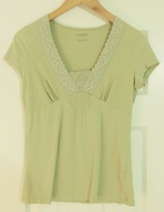 Sonoma Sequins And Lace Tagless Top Olive