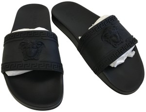 Versace Medusa Men's Slides Fashion Black Sandals
