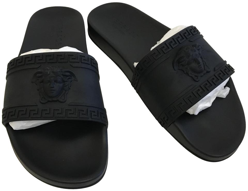 d98cb73fd68c Versace Black Men s Medusa Slide Sandals Size US 13 Regular (M