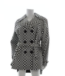 MICHAEL Michael Kors Checkered Trench Coat