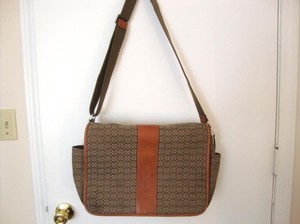 Coach Messenger Brown/tan Diaper Bag
