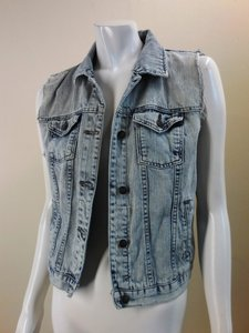 Forever 21 Denim Sleeveless Jacket 7433 Vest