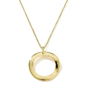 Ippolita Ippolita Glamazon 18K Yellow Gold Wave Pendant Necklace