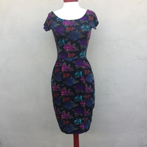 Betsey Johnson short dress Charcoal floral(pink, purple,turquoise,army green) on Tradesy