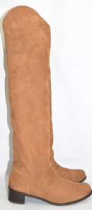 Stuart Weitzman Otk Riding RICE TAN NUBUCK Boots
