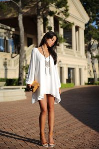 ONAYAYA short dress WHITE on Tradesy