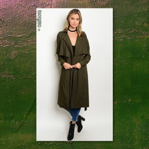 Other Trench Waterfall Lightweight Maxi Dress Trench Coat